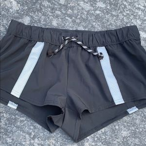 Free people black exercise shorts XS NWOT